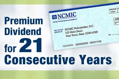 NCMIC Announces 21st Consecutive Premium Dividend