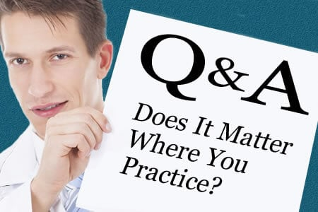 Does It Matter Where You Practice?