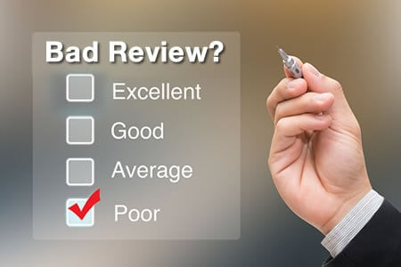 Concerns with Responding to a Bad Online Review