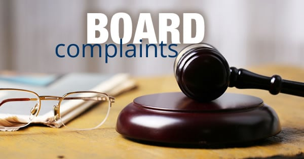 Advice on Chiropractic Board Complaints